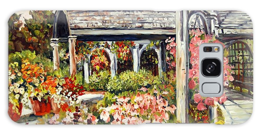Landscape Galaxy Case featuring the painting Klehm Arboretum I by Alexandra Maria Ethlyn Cheshire