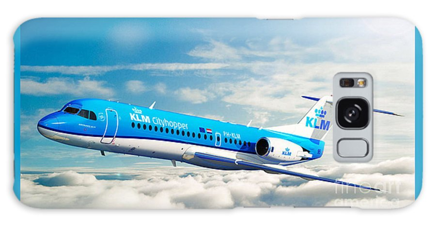 Klm Fokker 70 Cityhopper Galaxy S8 Case featuring the digital art Klm F70 Cityhopper by James Weatherly