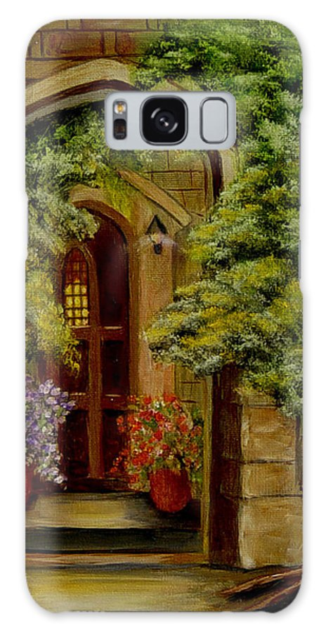 Door Galaxy Case featuring the painting Knight's Door by Quwatha Valentine