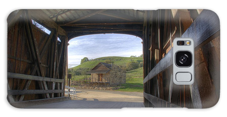 Knights Ferry Galaxy S8 Case featuring the photograph Knights Ferry Covered Bridge by Jim And Emily Bush