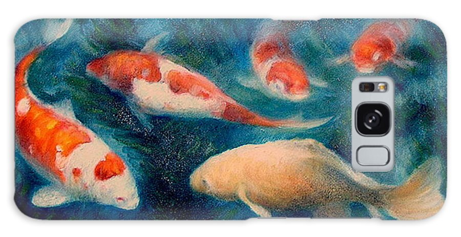 Realism Galaxy S8 Case featuring the painting Koi Ballet 2 by Donelli DiMaria