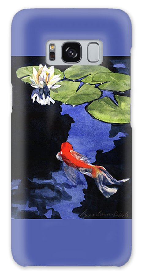 Watercolor Galaxy S8 Case featuring the painting Koi Ballet by Donna Barnes-Roberts