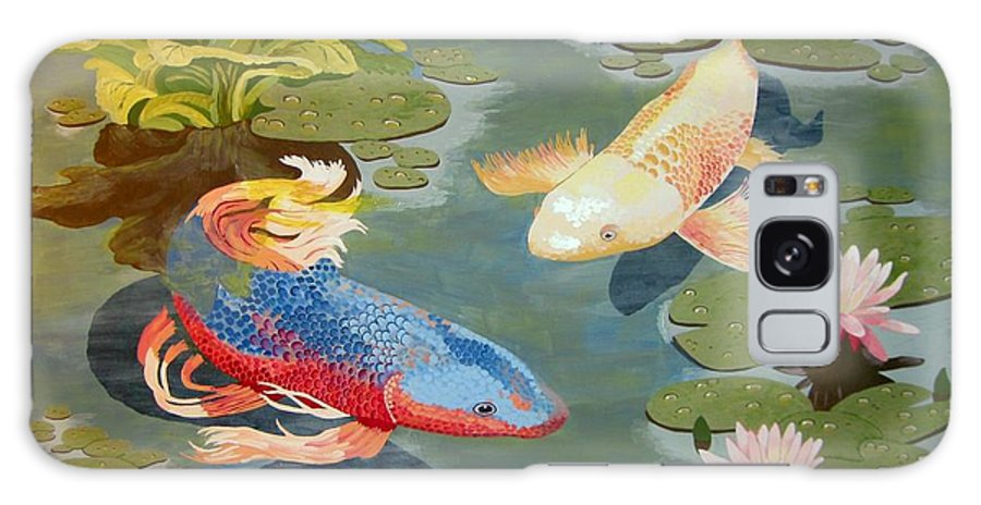 Koi Galaxy S8 Case featuring the painting Koi II by Jennifer Donald