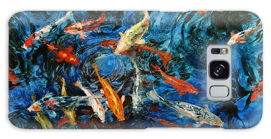 Koi Galaxy S8 Case featuring the painting Koi IIi by Rick Nederlof