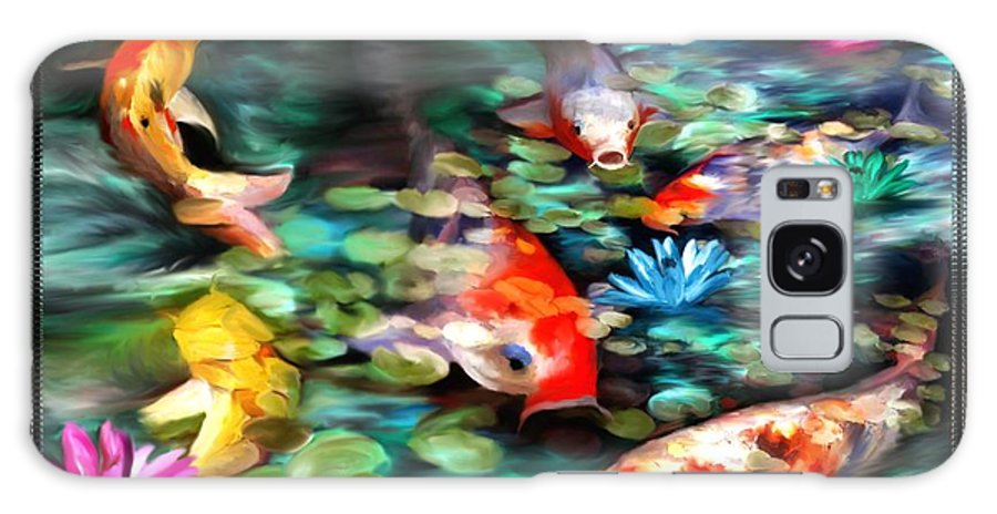 Koi Galaxy S8 Case featuring the painting Koi Paradise by Susan Kinney