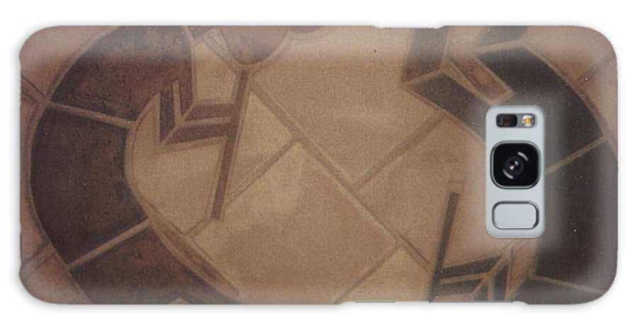 Tile Galaxy Case featuring the relief kokopelli Hand cut Tiles by Patrick Trotter