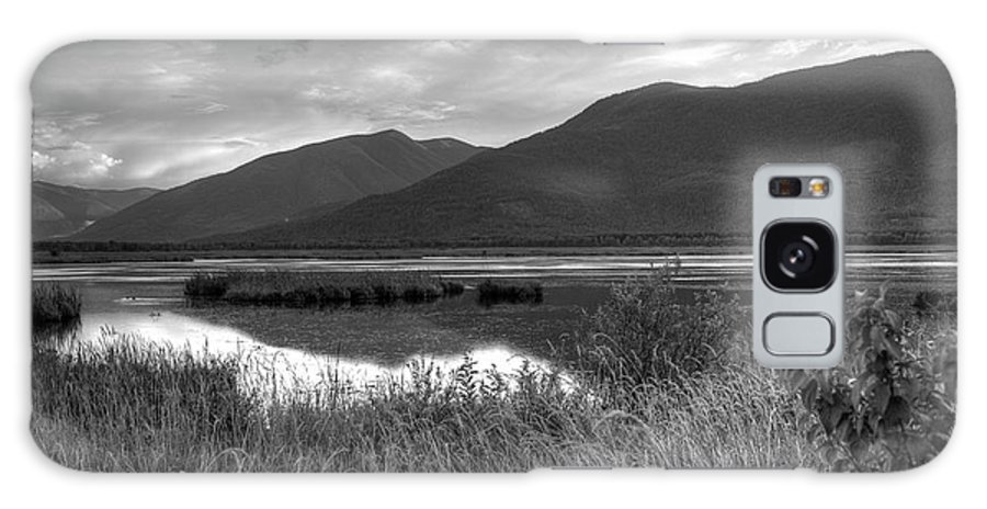 Kootenay Galaxy S8 Case featuring the photograph Kootenay Marshes In Black And White by Lawrence Christopher