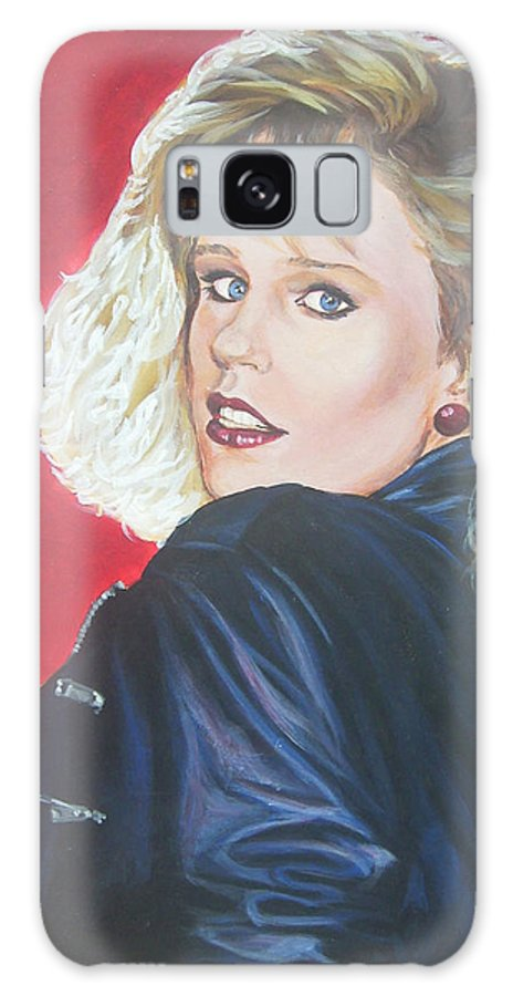 Blonde Galaxy S8 Case featuring the painting Kristi Sommers by Bryan Bustard