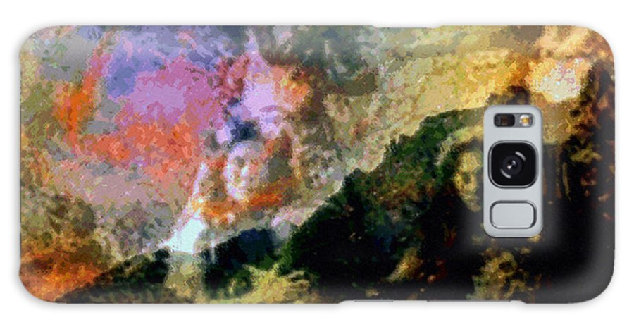 Rainbow Colors Digital Galaxy Case featuring the photograph Kupua Hula by Kenneth Grzesik