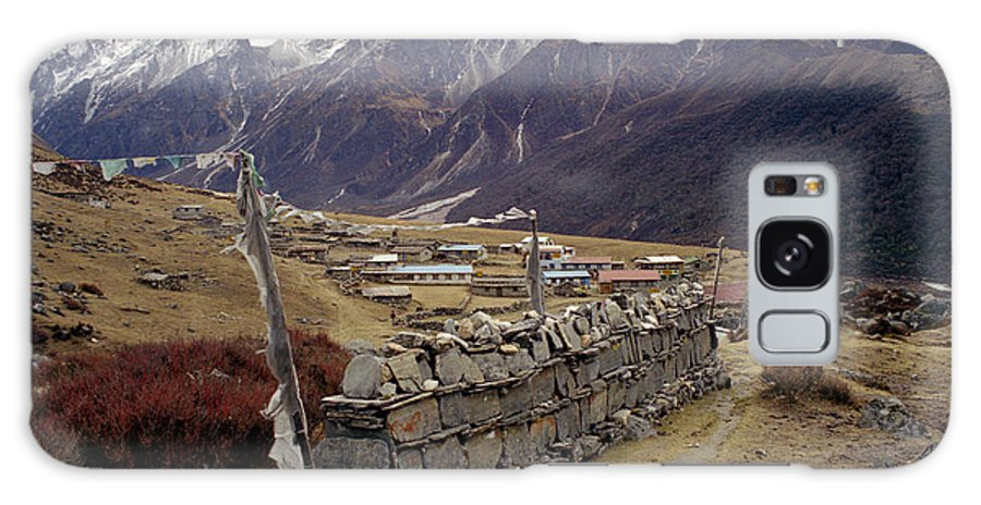 Langtang Galaxy Case featuring the photograph Kyanjin Gompa by Patrick Klauss