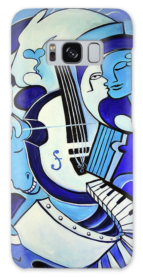 Abstract Galaxy S8 Case featuring the painting L amour ou quoi 2 by Valerie Vescovi