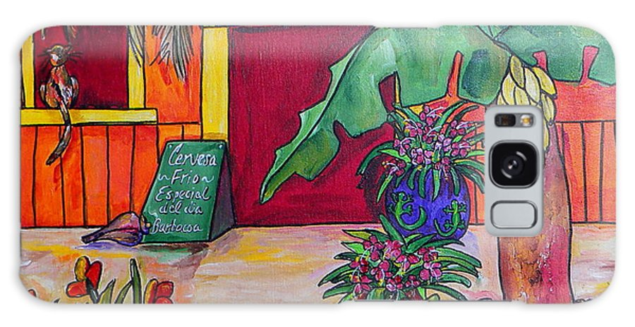 Mexico Galaxy S8 Case featuring the painting La Cantina by Patti Schermerhorn