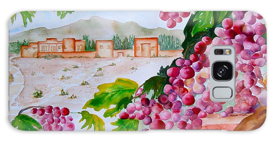 Grapes Galaxy S8 Case featuring the painting La Casa Del Vino by Sharon Mick