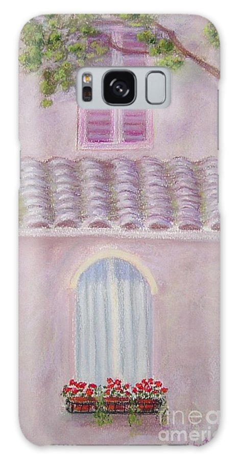Window Boxes Galaxy Case featuring the painting La Casa Rosa Lunga Il Treve by Mary Erbert