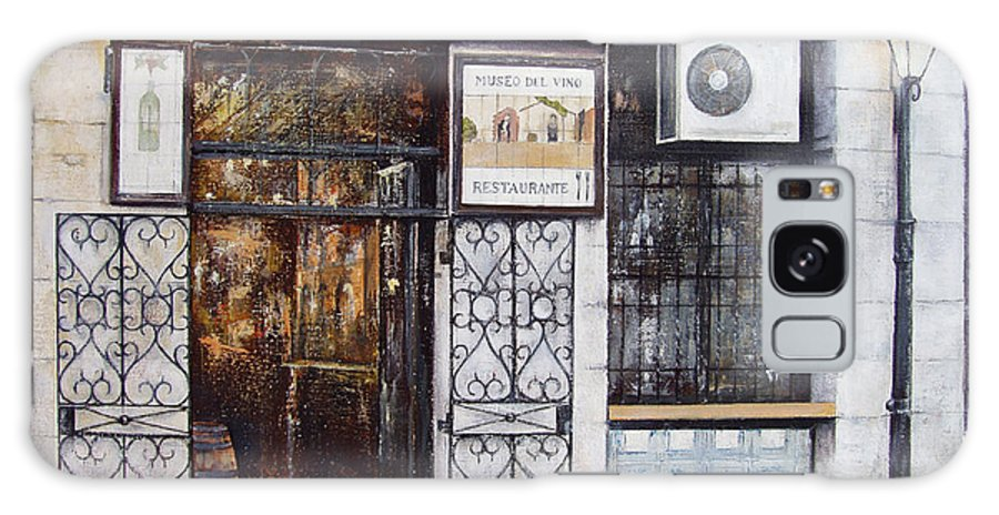 Bodega Galaxy S8 Case featuring the painting La Cigalena Old Restaurant by Tomas Castano