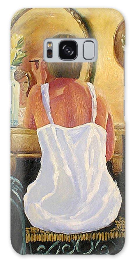 People Galaxy S8 Case featuring the painting La Coqueta by Arturo Vilmenay