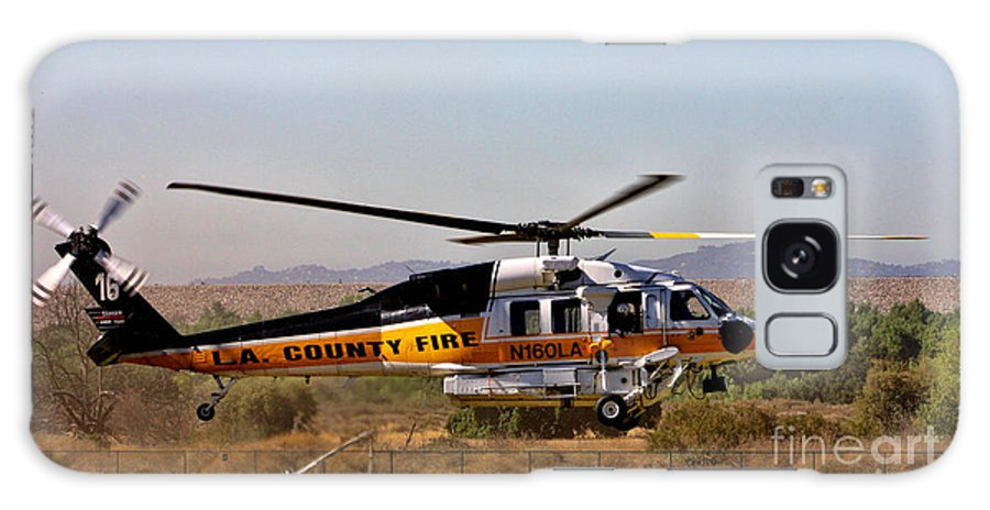 Los Angeles County Fire Department Galaxy S8 Case featuring the photograph La County Fire Air Support by Tommy Anderson