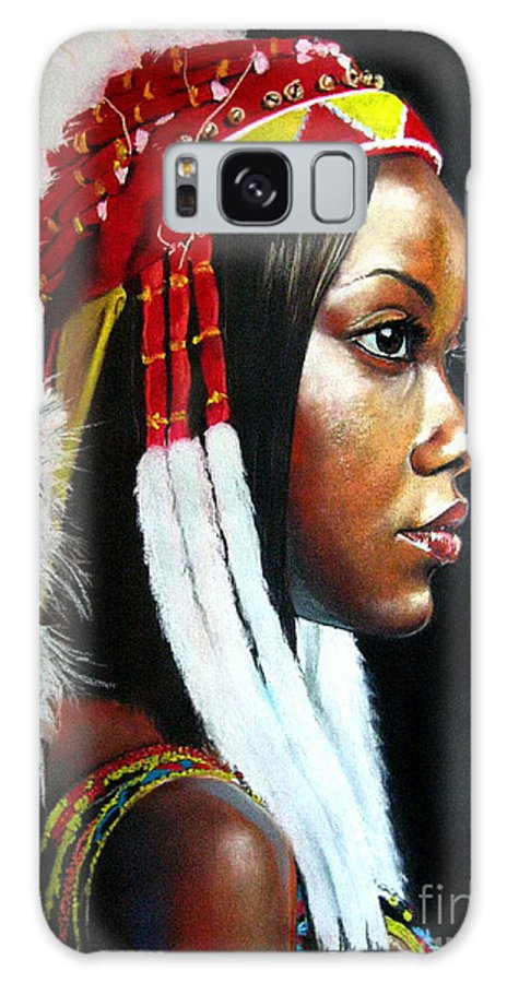 Portrait Galaxy S8 Case featuring the painting La India by Yxia Olivares