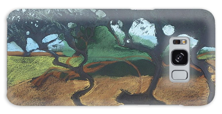 Contemporary Tree Landscape Galaxy S8 Case featuring the drawing La Jolla I by Leah Tomaino
