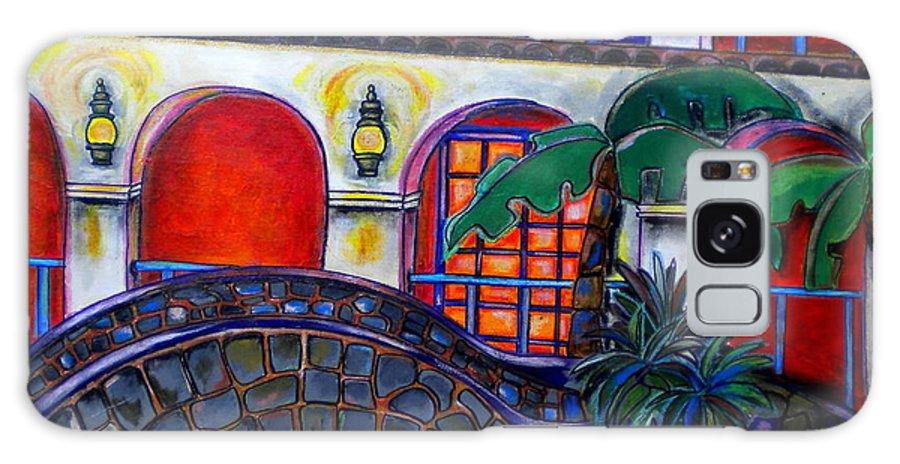 San Antonio Galaxy S8 Case featuring the painting La Mansion Del Rio by Patti Schermerhorn