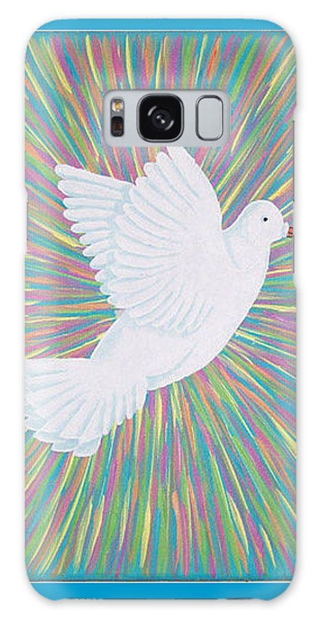 Dove Galaxy S8 Case featuring the painting La Palomita by Emmely Hillewaert