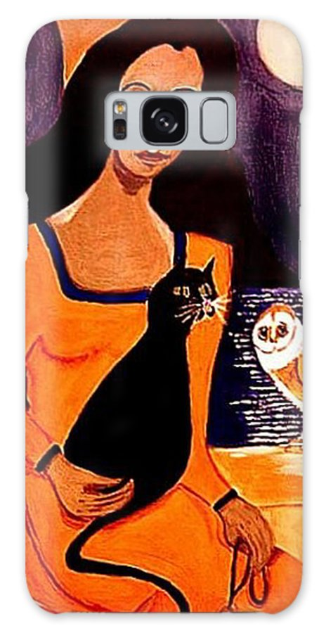 Occult Galaxy S8 Case featuring the painting La Papesse by Rusty Gladdish