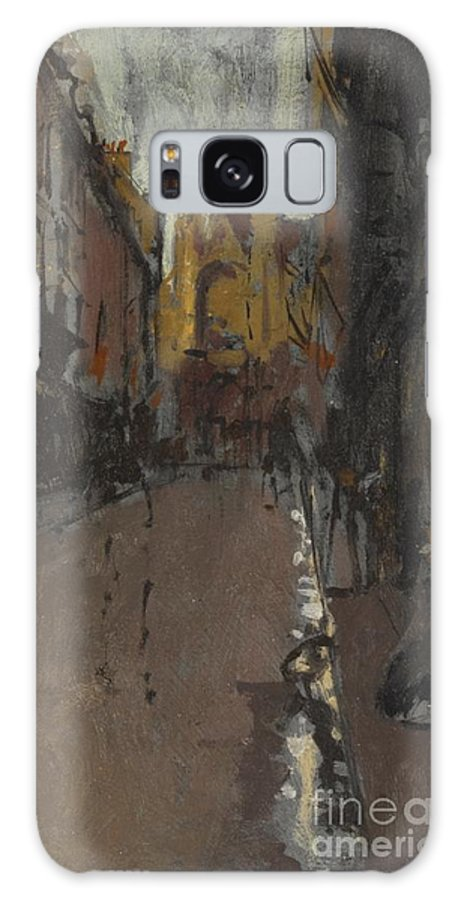 Walter Richard Sickert Galaxy S8 Case featuring the painting La Rue St Jacques Dieppe by Celestial Images