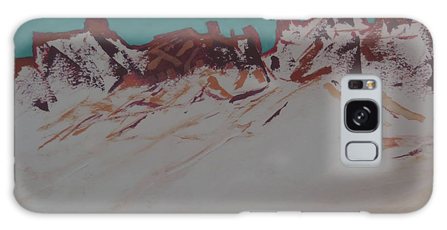 Landscape Galaxy S8 Case featuring the painting La Sal Mountains by Laura Raymond