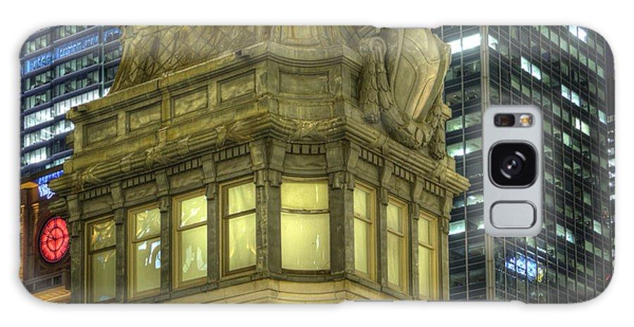 Bridge Galaxy S8 Case featuring the photograph La Salle Street Bridge Control Tower 3 by Barry Benton