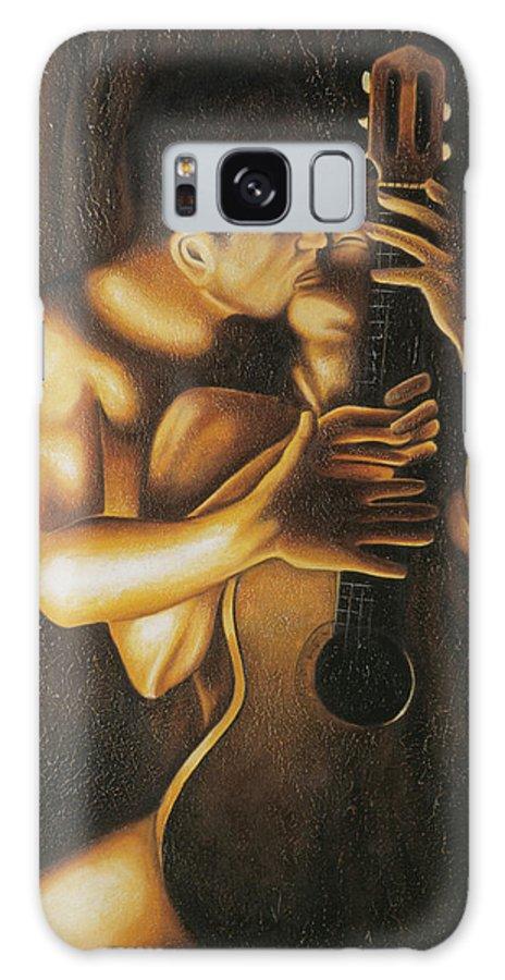 Acrylic Galaxy S8 Case featuring the painting La Serenata by Arturo Vilmenay
