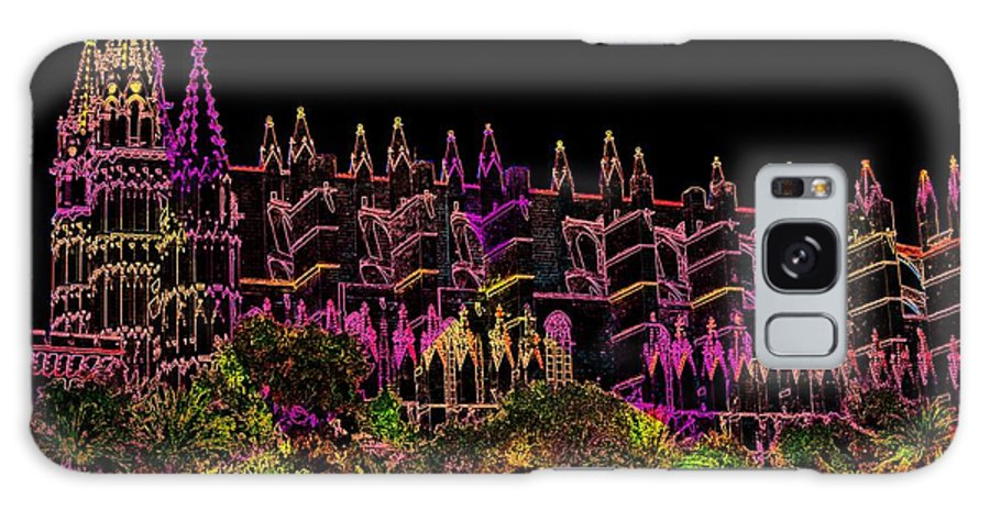La Seu Galaxy S8 Case featuring the digital art La Seu The Cathedral Of Palma by Helmut Rottler