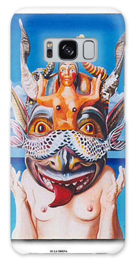 Hyperrealism Galaxy S8 Case featuring the painting La Sirena by Michael Earney