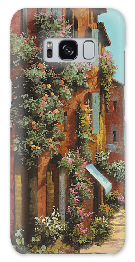 Lakescape Galaxy S8 Case featuring the painting La Strada Verso Il Lago by Guido Borelli