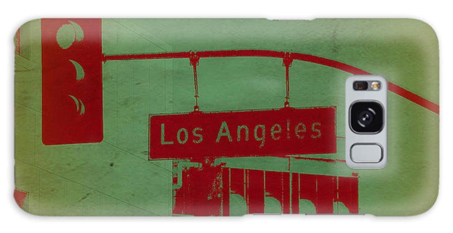 Los Angeles Street Galaxy S8 Case featuring the photograph La Street Ligh by Naxart Studio