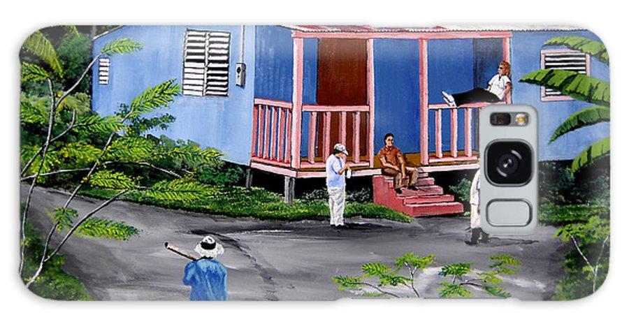 Campo Galaxy Case featuring the painting La Vida En Las Montanas De Moca by Luis F Rodriguez