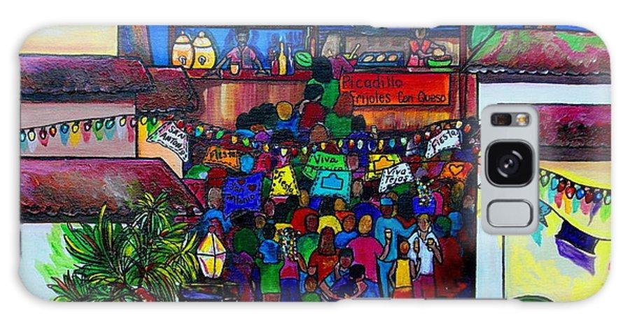 San Antonio Galaxy S8 Case featuring the painting La Villita by Patti Schermerhorn
