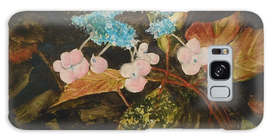 Flowers Galaxy S8 Case featuring the painting Lace Cap 2 by Jean Blackmer