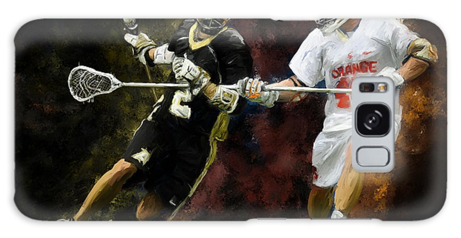 Lacrosse Galaxy S8 Case featuring the painting Lacrosse Close D #2 by Scott Melby