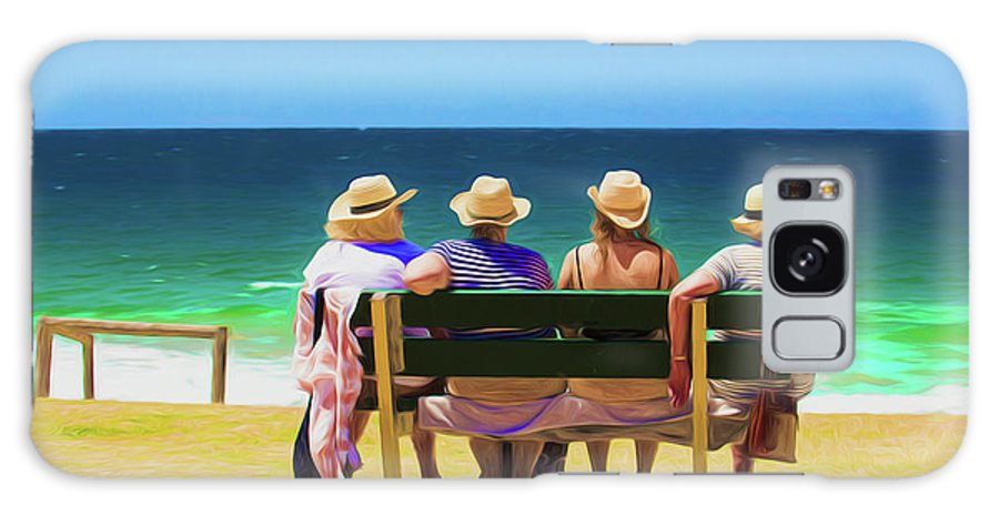 Ladies In Hats Galaxy Case featuring the photograph Ladies day out by Sheila Smart Fine Art Photography