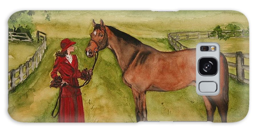 Horse Galaxy S8 Case featuring the painting Lady And Horse by Jean Blackmer