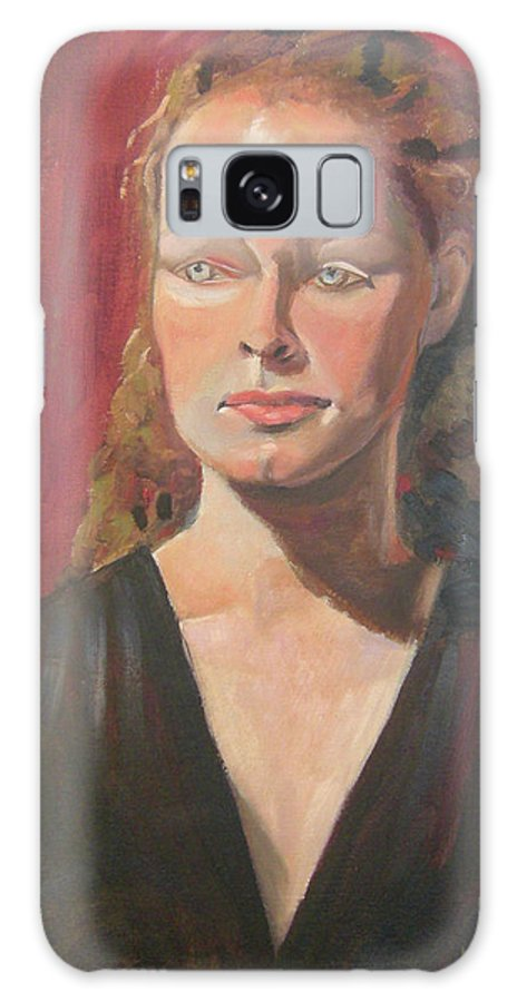 Portrait Galaxy Case featuring the painting Lady Ann by Lilibeth Andre