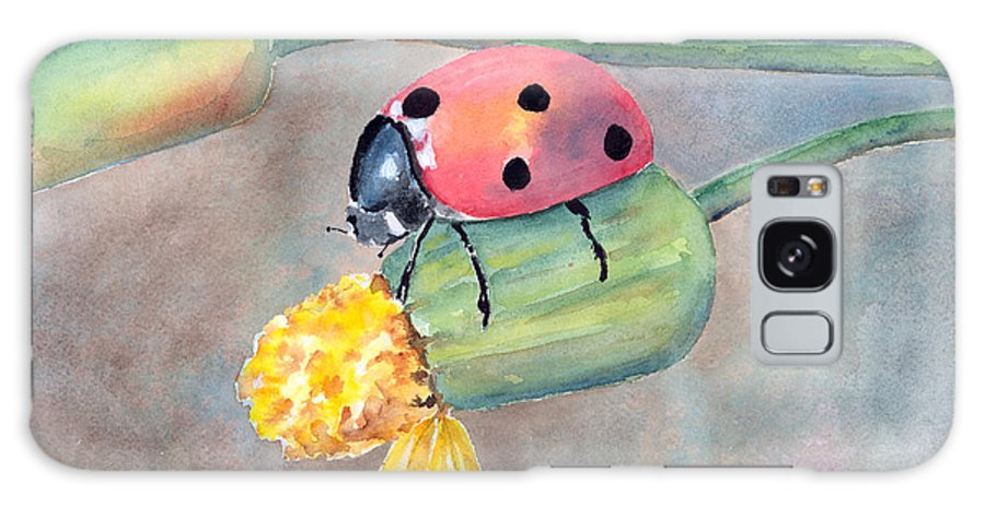 Ladybug Galaxy S8 Case featuring the painting Lady Bug - Lady Bug... by Arline Wagner