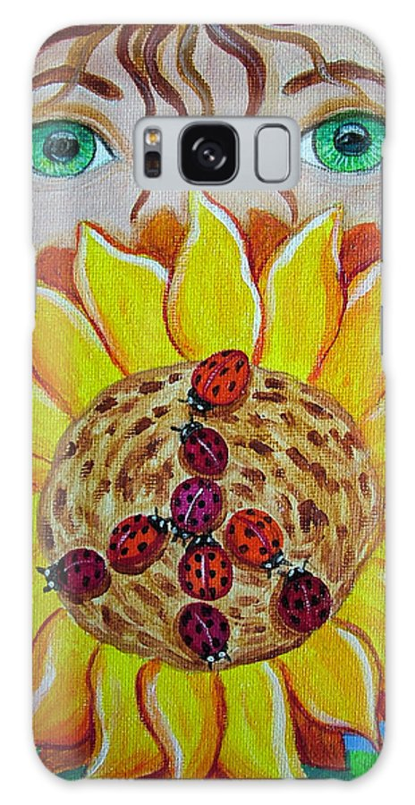 Lady Bug Galaxy S8 Case featuring the painting Lady Bug Peace by Nick Gustafson