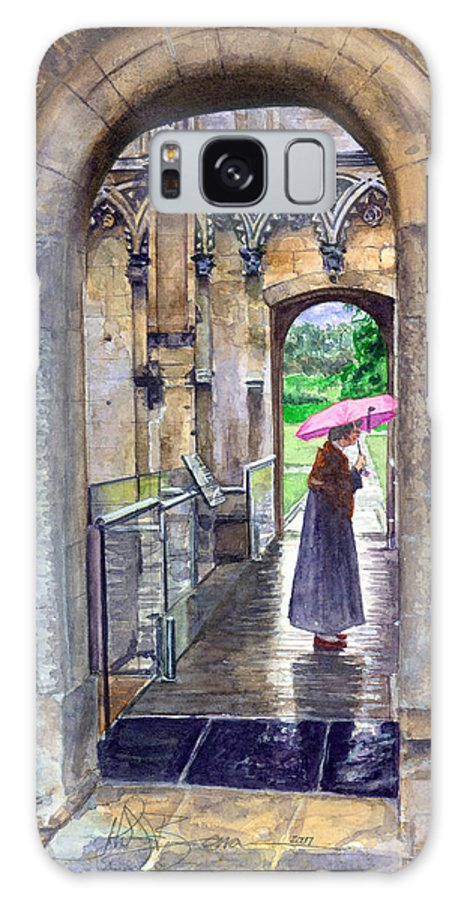 Glastonbury Galaxy Case featuring the painting Lady Chapel by John D Benson