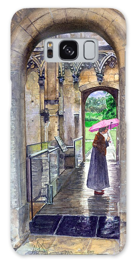 Glastonbury Galaxy S8 Case featuring the painting Lady Chapel by John D Benson