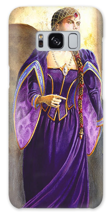 Camelot Galaxy S8 Case featuring the painting Lady Ettard by Melissa A Benson