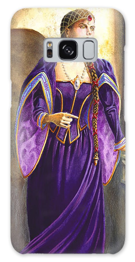 Camelot Galaxy Case featuring the painting Lady Ettard by Melissa A Benson