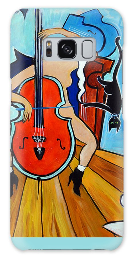 Musicians Galaxy Case featuring the painting Lady In Red by Valerie Vescovi