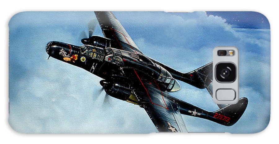 Military Galaxy Case featuring the painting Lady In The Dark by Marc Stewart