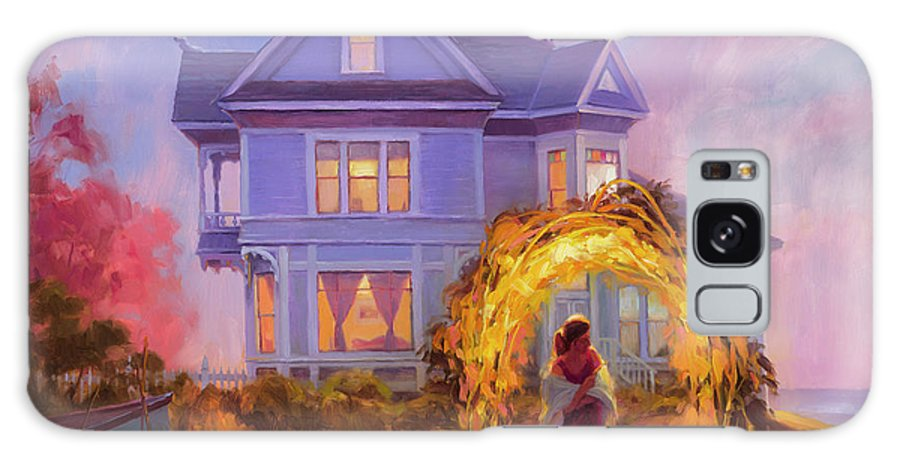 Woman Galaxy S8 Case featuring the painting Lady In Waiting by Steve Henderson